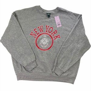 Women's Heather Grey Brooklyn Champions Sweatshirt